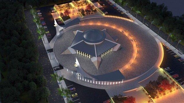 اكتمال بناء أول جامع على شكل هلال ونجمة في تركيا لكنه لم يفتتح بسبب كوفيد 19